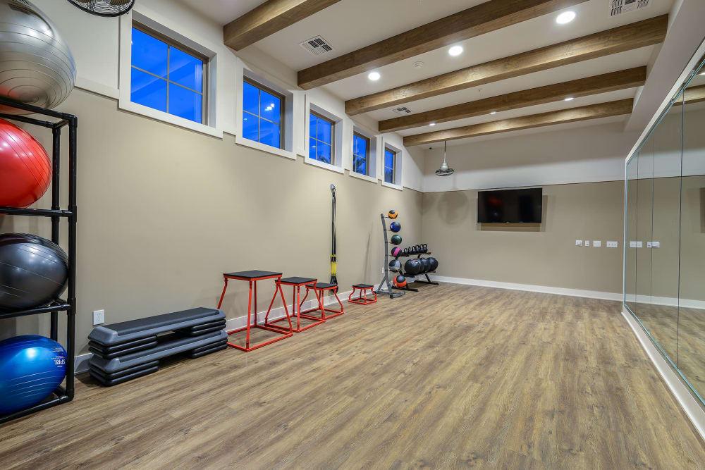 yoga room at Palm Bay Club at Jacksonville
