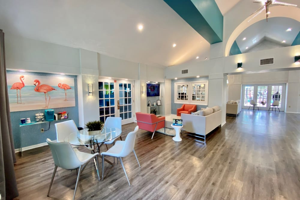 Clubhouse lounge at 1801 MetroWest in Orlando, Florida