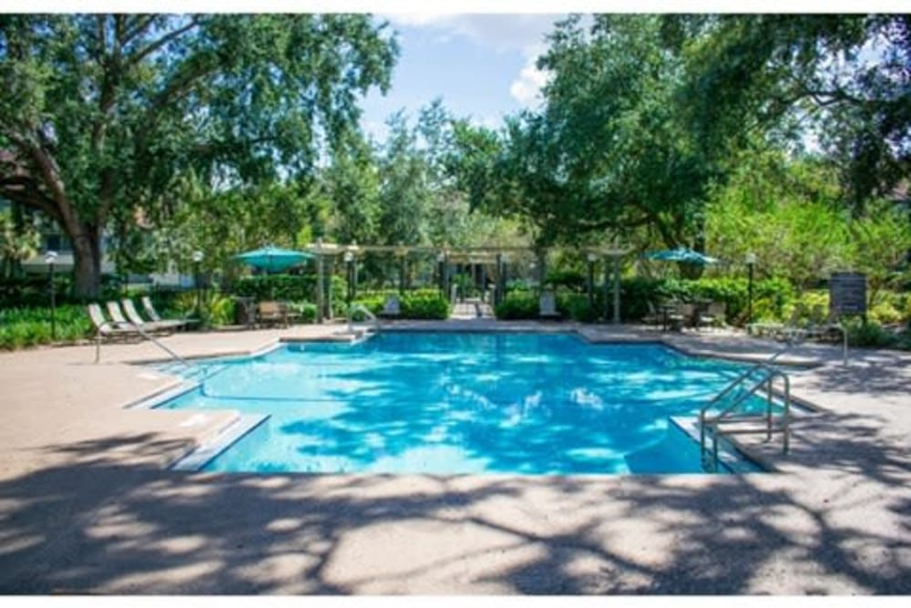 Sparkling pool at 1801 MetroWest in Orlando, Florida
