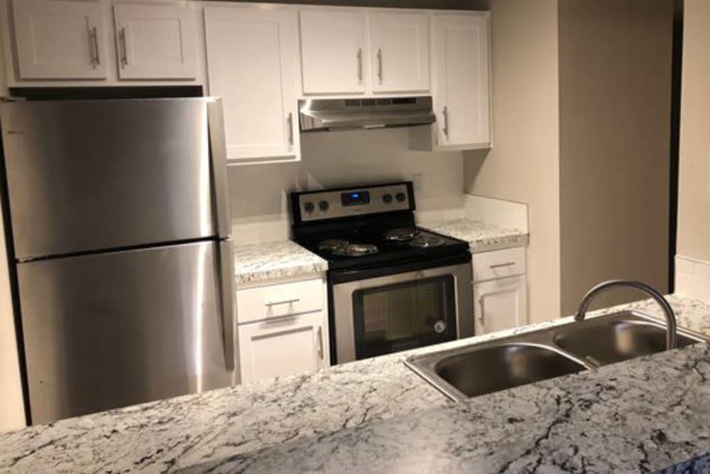 Kitchen countertop at 1801 MetroWest in Orlando, Florida