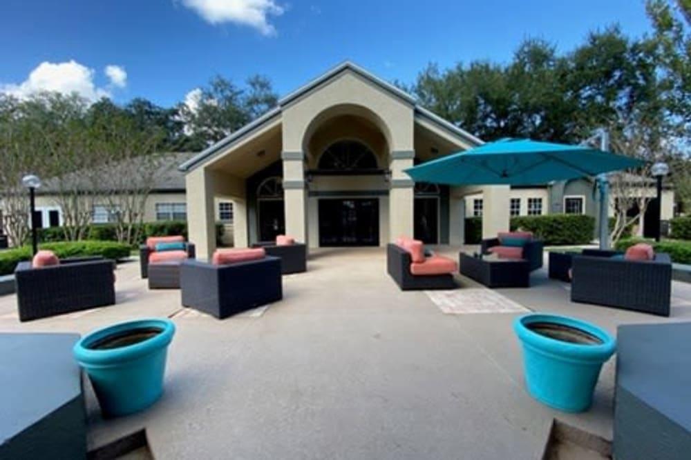 Outdoor patio at 1801 MetroWest in Orlando, Florida