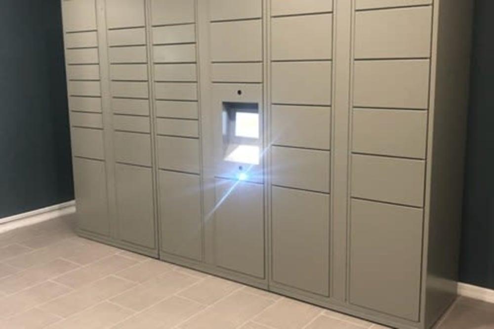 Lockers at 1801 MetroWest in Orlando, Florida