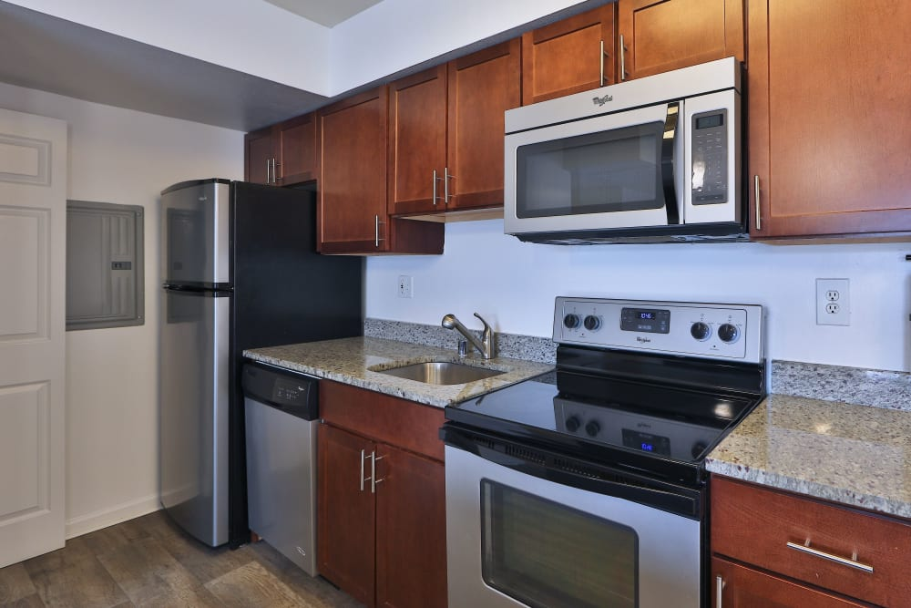 Kitchen at Tamarron Apartment Homes in Olney, Maryland