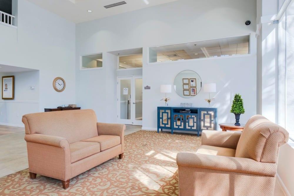 Interior lobby of Grand Villa of Sarasota