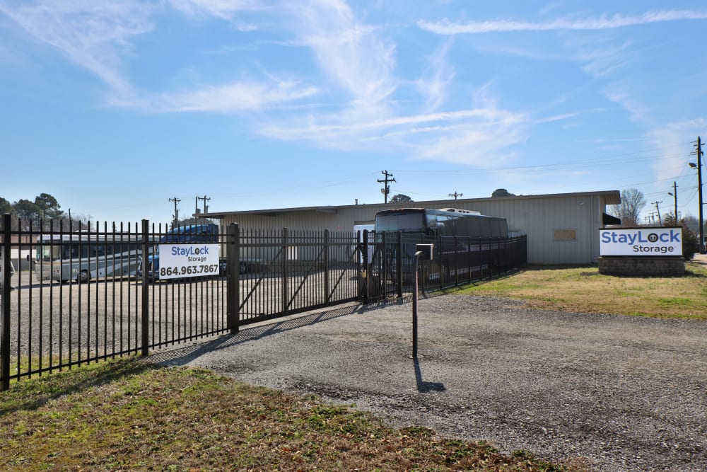 Gated access at StayLock Storage in Mauldin, SC