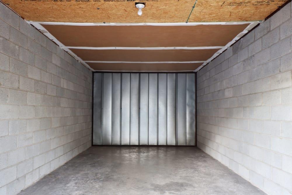inside view of storage unit at StayLock Storage in Mauldin, South Carolina