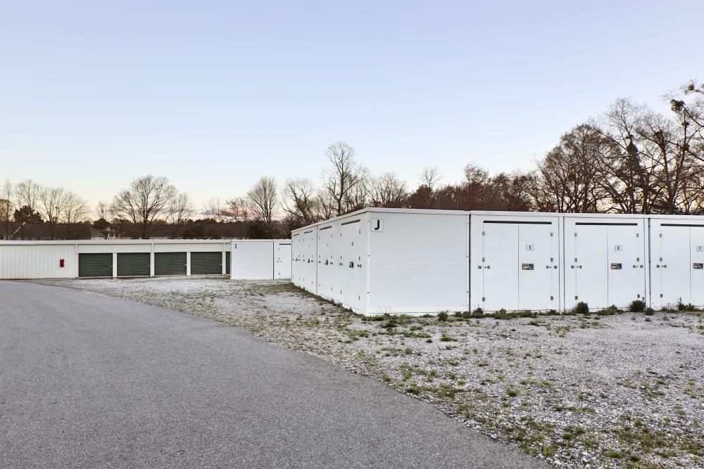 storage units on gravel at StayLock Storage in Mauldin, South Carolina