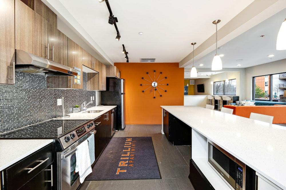 Lounge area at Trillium Apartments in Edmonds, Washington