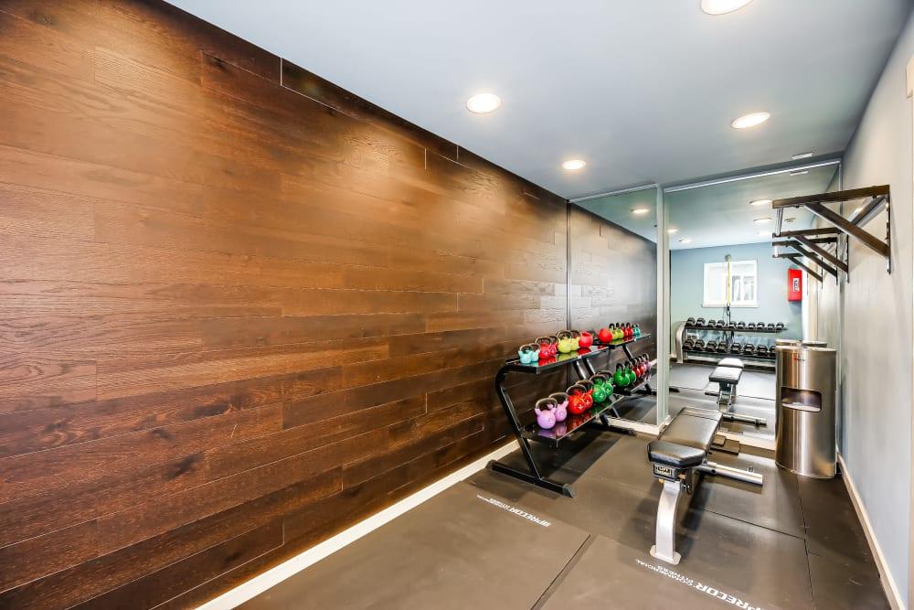 Fitness area at Union 18 in Seattle, Washington