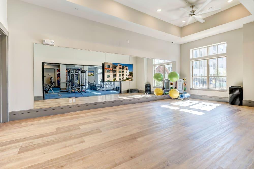 Yoga studio at Caliza in Cedar Park ,Texas
