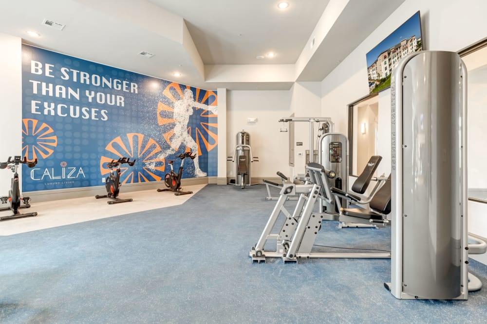 Fitness center at Caliza in Cedar Park, Texas