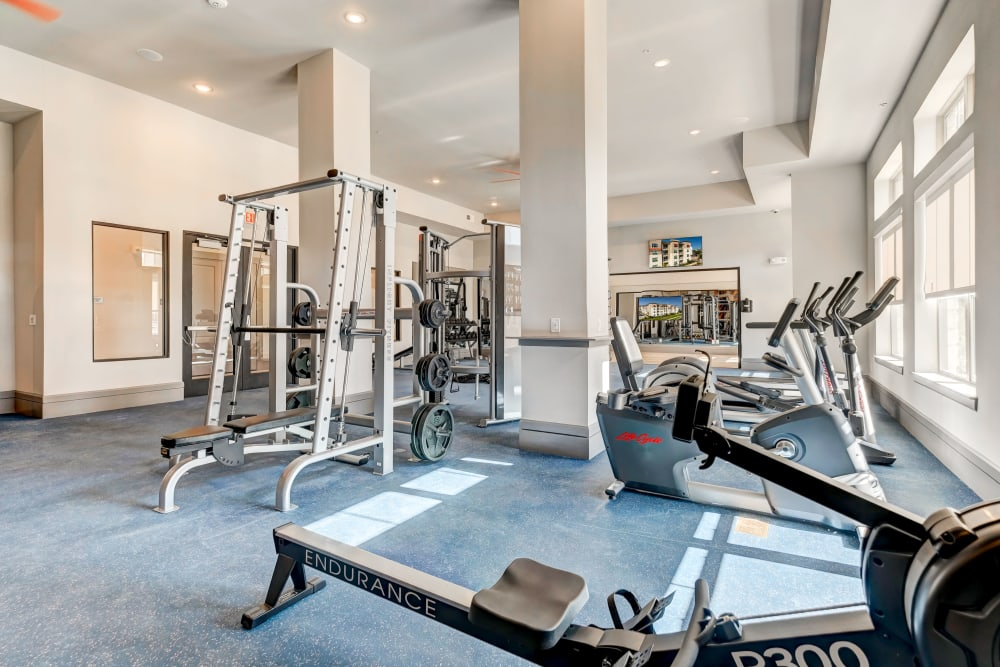 Fitness center for residents at Caliza in Cedar Park, Texas