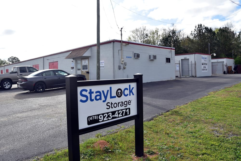 Outdoor sign for StayLock Storage in Warner Robins,GA