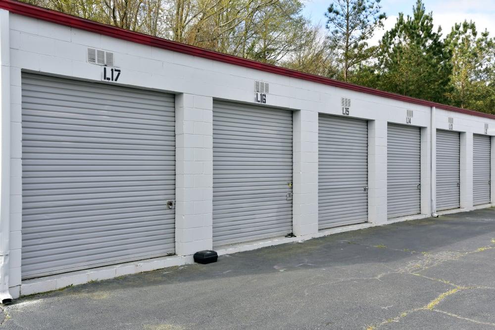 Row of storage units at StayLock Storage in Warner Robins,GA