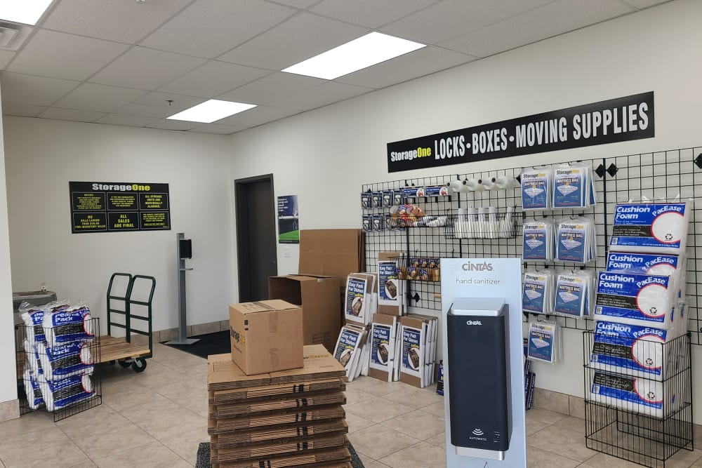 packing supplies at StorageOne Horizon & Sandy Ridge in Henderson, Nevada