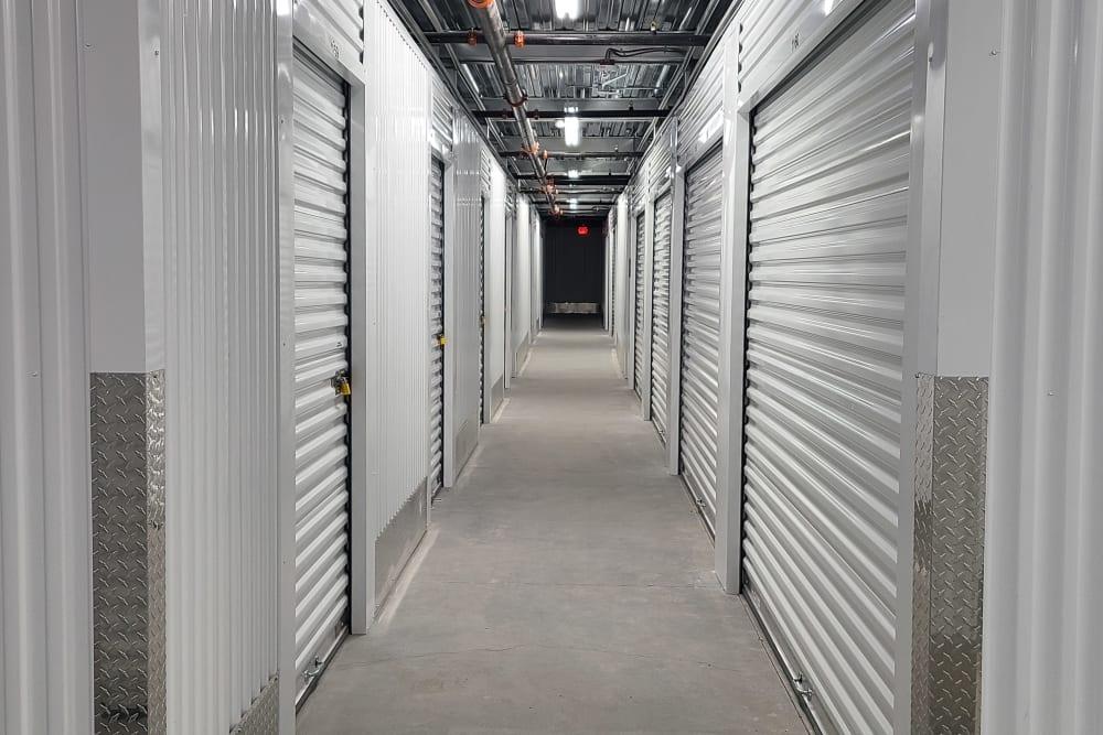 indoor storage unit hallway at StorageOne Horizon & Sandy Ridge in Henderson, Nevada