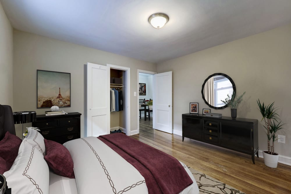 Bedroom at Avondale Apartments in Bethesda, Maryland