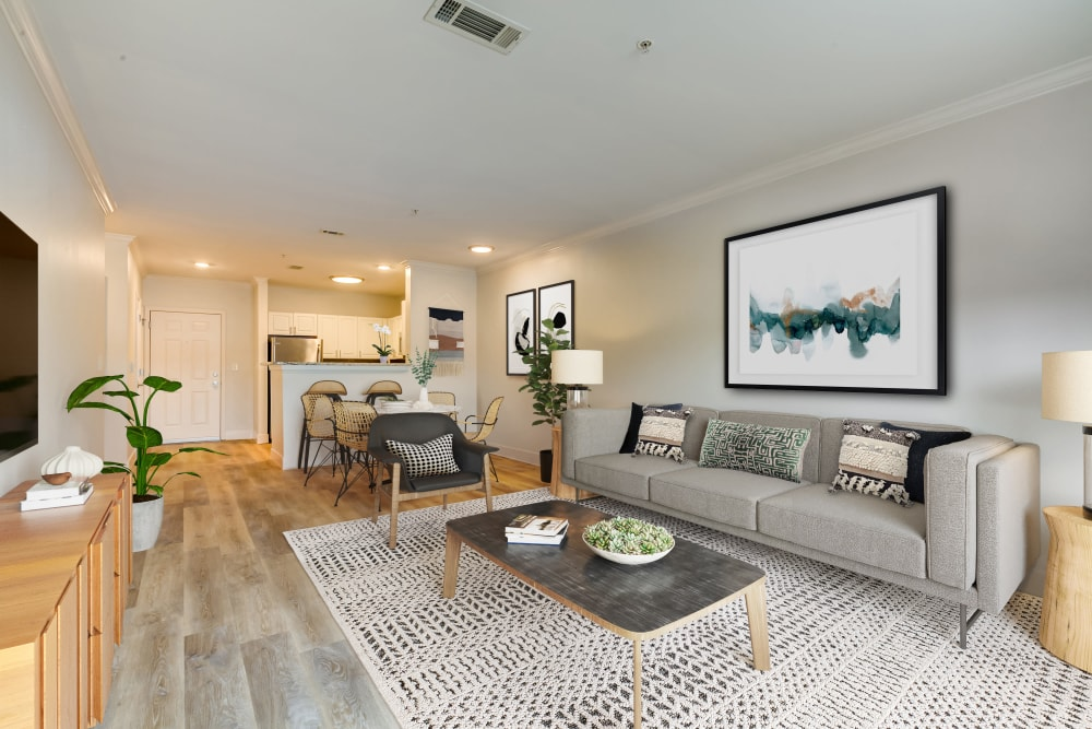 Open floor plan in unit at at Sofi at Salem Station in Salem, MA