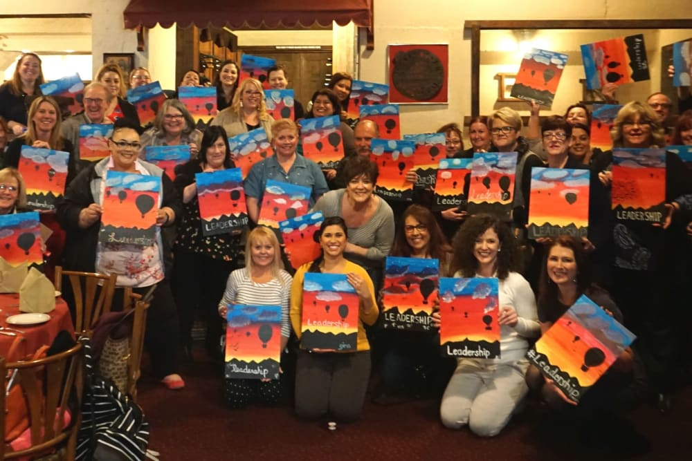 Ray Stone team members painting