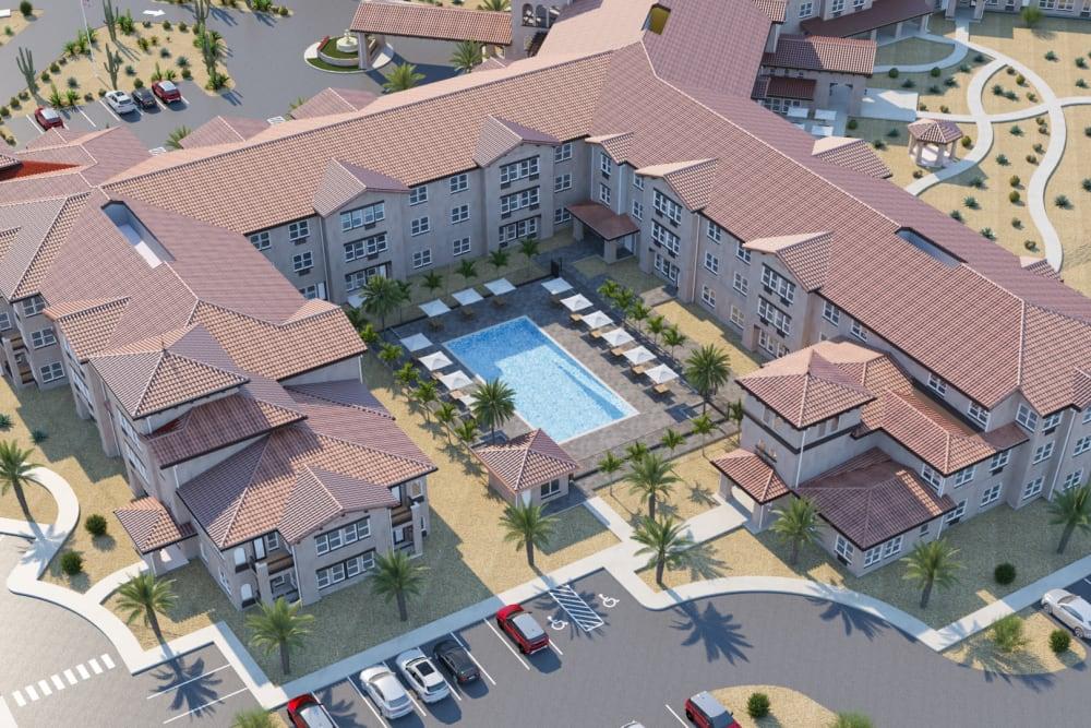 Aerial view of at Ativo Senior Living of Sundance in Buckeye, Arizona