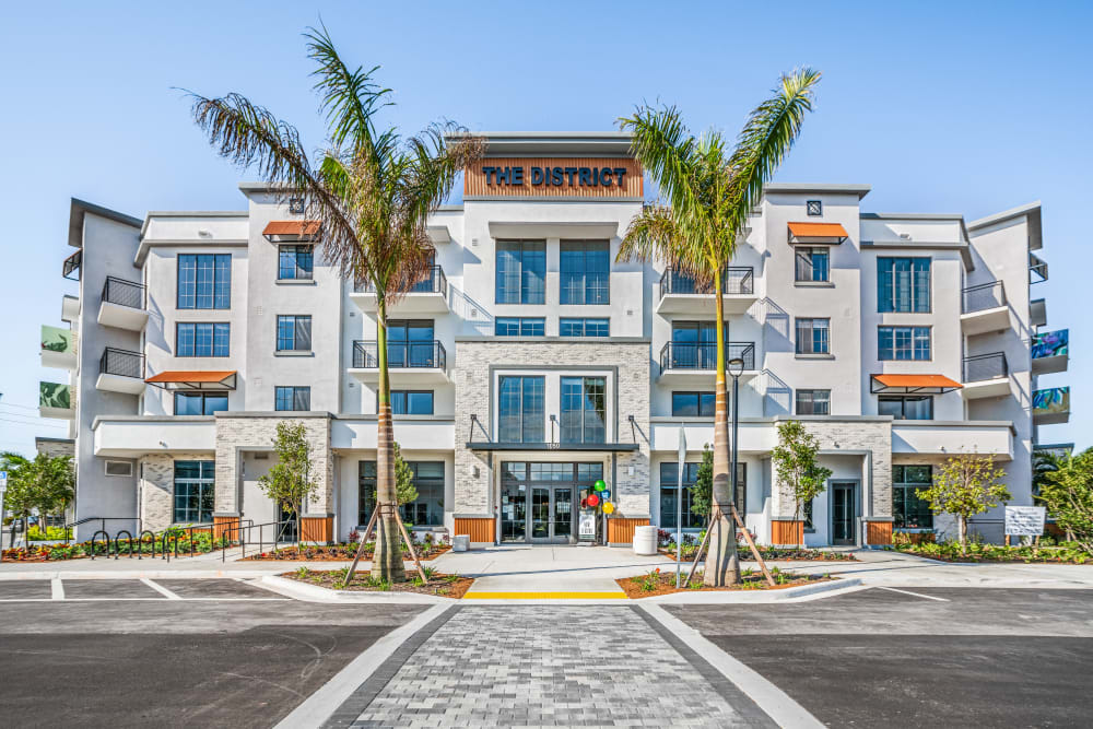 Exterior of The District Flats in West Palm Beach, Florida