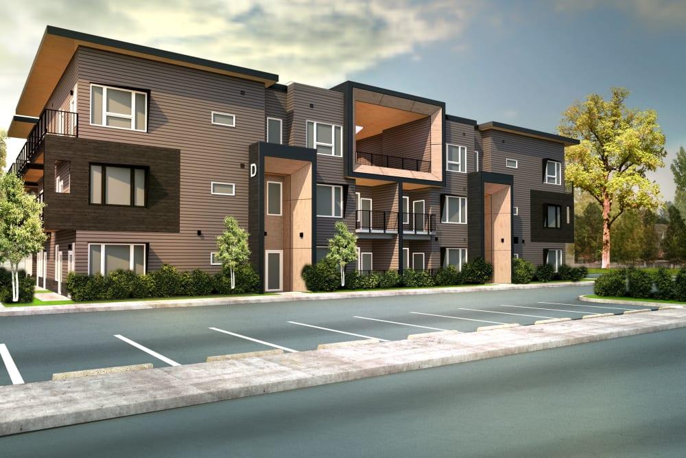 Street view of Brookside Apartments in Gresham, Oregon