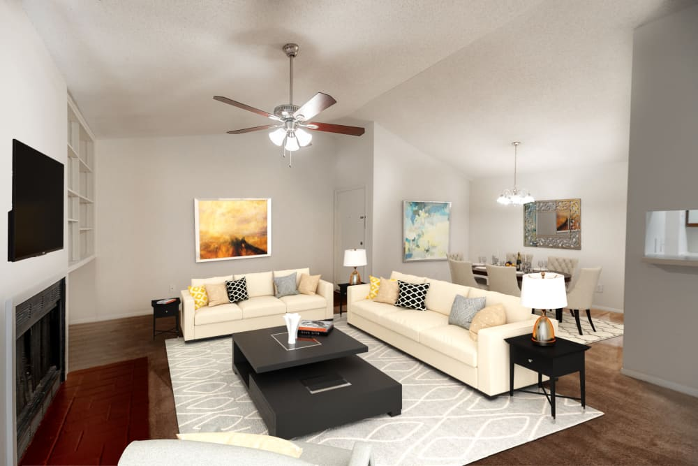 Spacious Living Room at Summerlin at Concord Apartment Homes in Concord, North Carolina