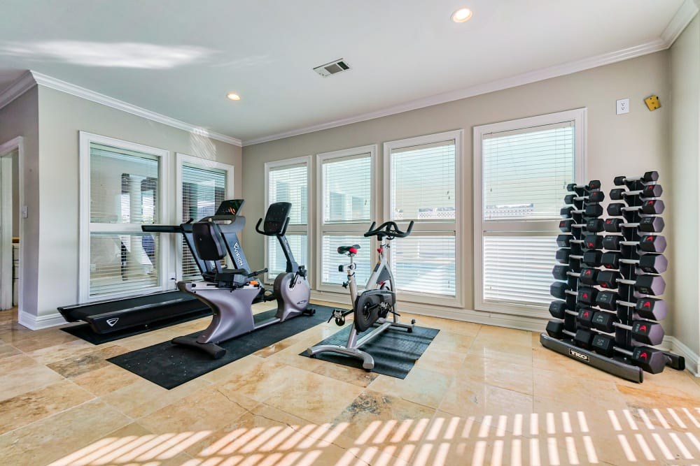 Indoor Gym at The Gatsby at Midtown in Montgomery, Alabama