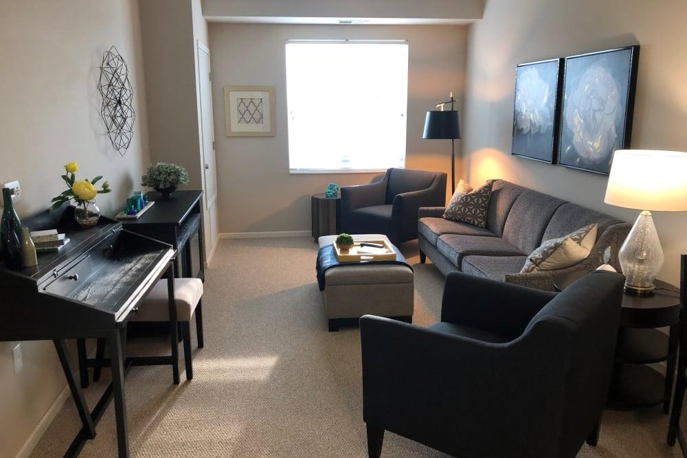 A senior living apartment from Ebenezer Senior Living properties