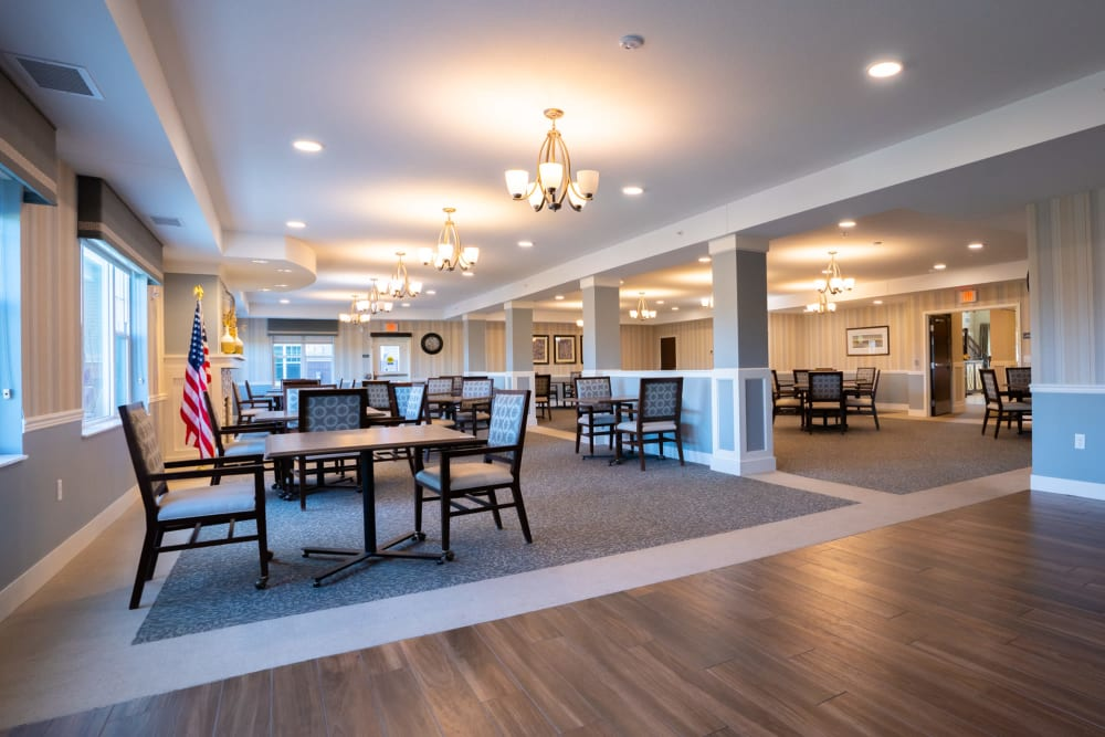 Open dining room at The Sanctuary at St. Cloud location, a property managed by Ebenezer Senior Living