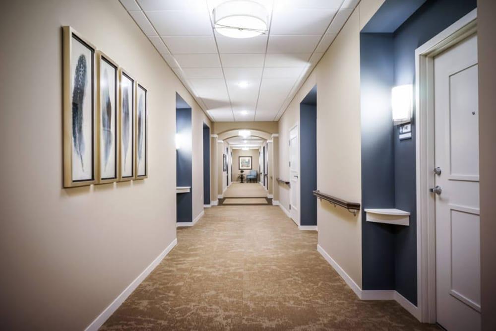 Modern hallways and corridors at Ebenezer Senior Living locations