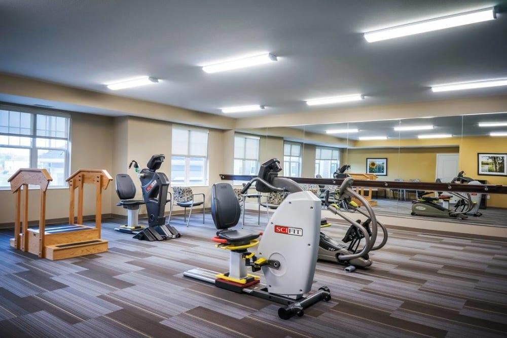 Fitness center on-site at Ebenezer Senior Living communities