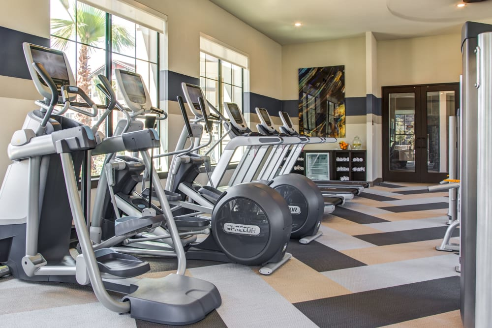 Fitness center at Waterford Trails in Spring, Texas
