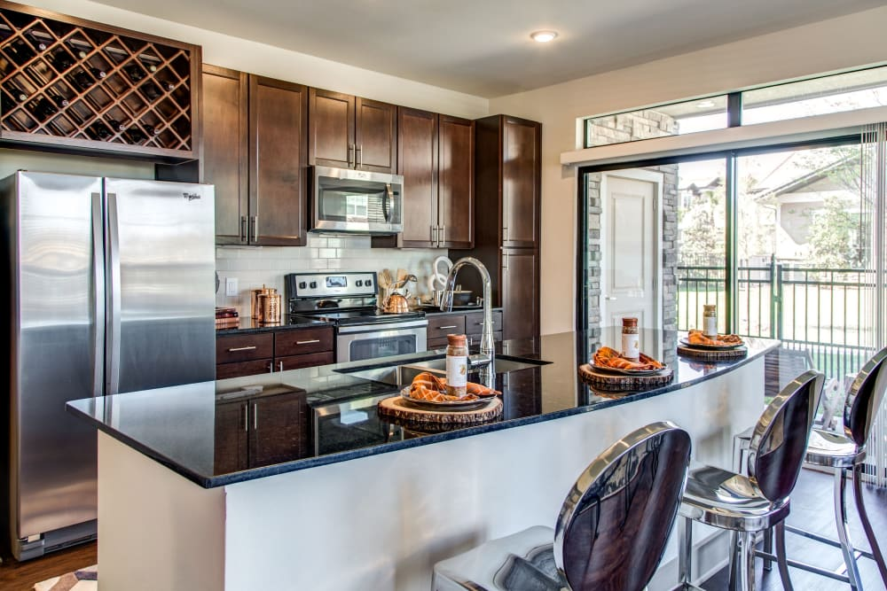 Model kitchen at Waterford Trails in Spring, Texas