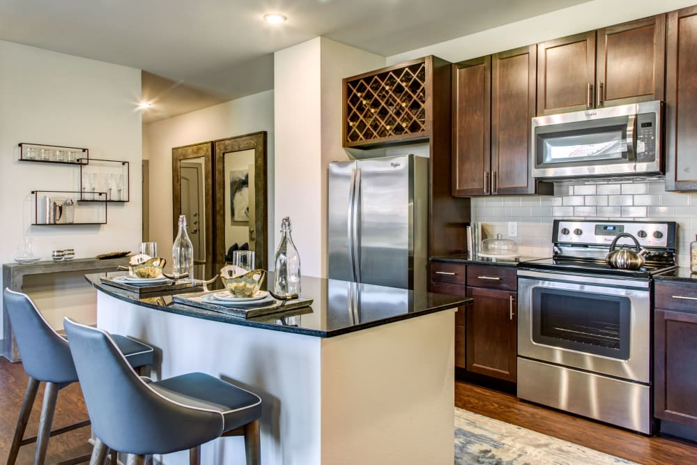 Kitchen countertop at Waterford Trails in Spring, Texas