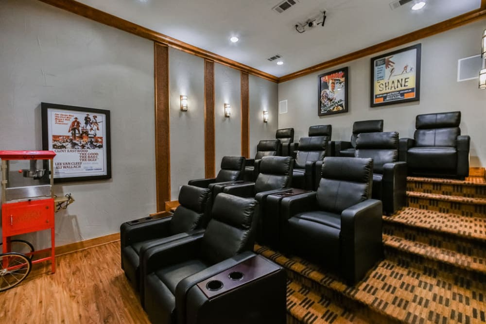 Movie theatre room at Stone Creek at The Woodlands in The Woodlands, Texas