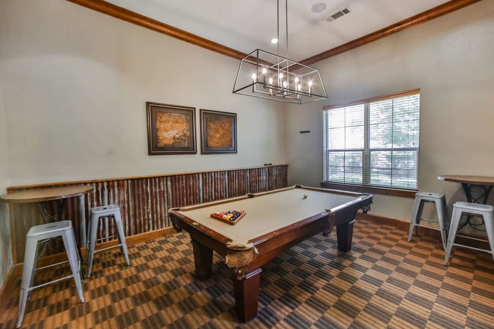 Billiards room at Stone Creek at The Woodlands in The Woodlands, Texas