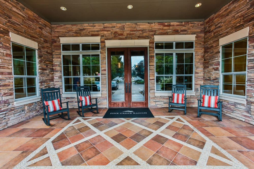 Clubhouse entrance at Stone Creek at The Woodlands in The Woodlands, Texas