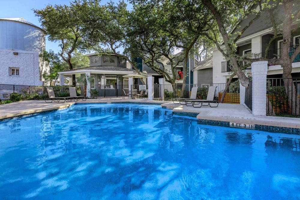 Resort-style swimming pool at APEX in San Antonio, Texas