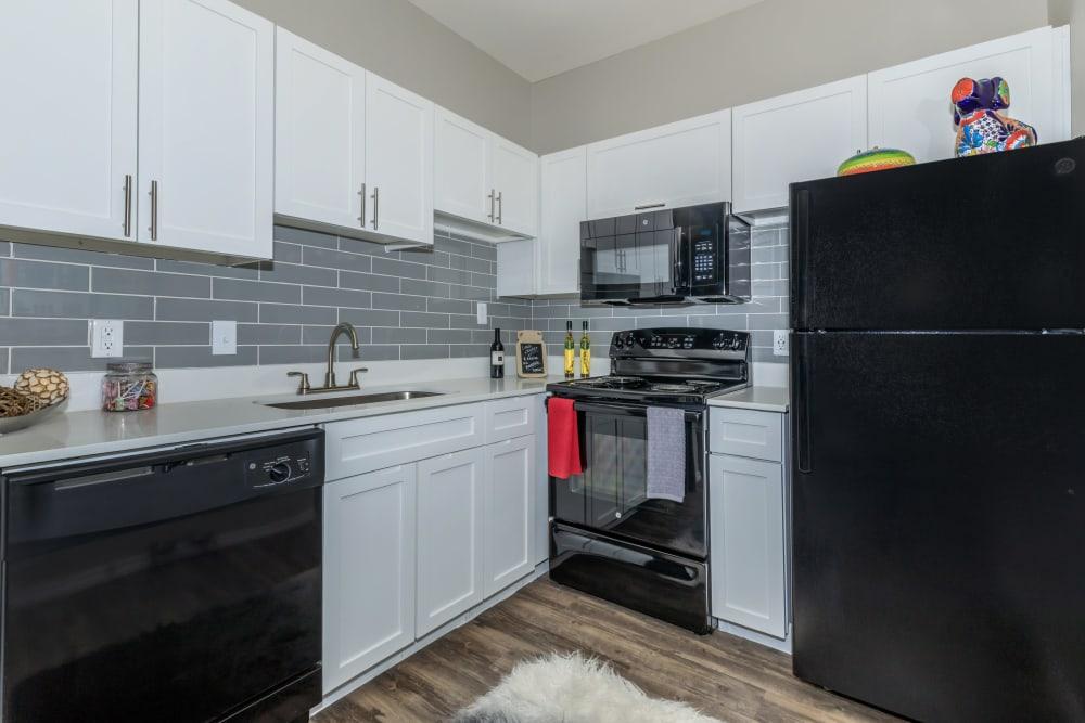 Bright kitchen at APEX in San Antonio, Texas
