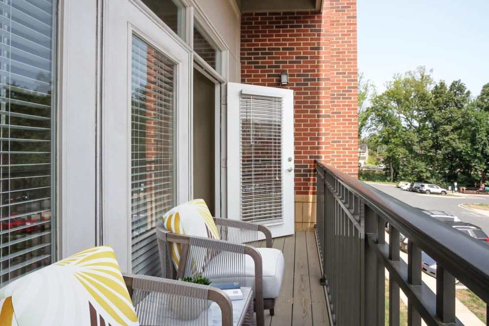 Personal balcony at Morehead West in Charlotte, North Carolina