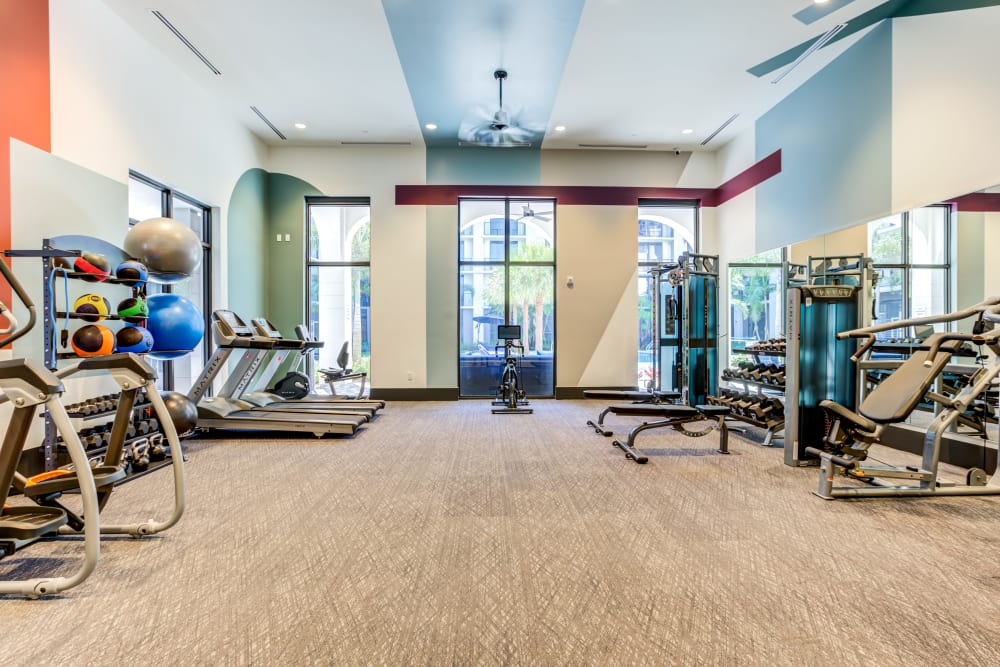 Fully Equipped Fitness Center at Solera at City Centre in Palm Beach Gardens, Florida