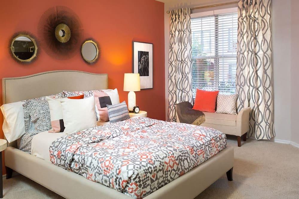 Cozy bedroom at Alesio Urban Center in Irving, Texas