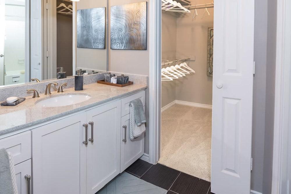 Bathroom at Alesio Urban Center in Irving, Texas