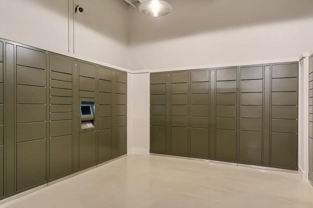 Lockers at Alesio Urban Center in Irving, Texas