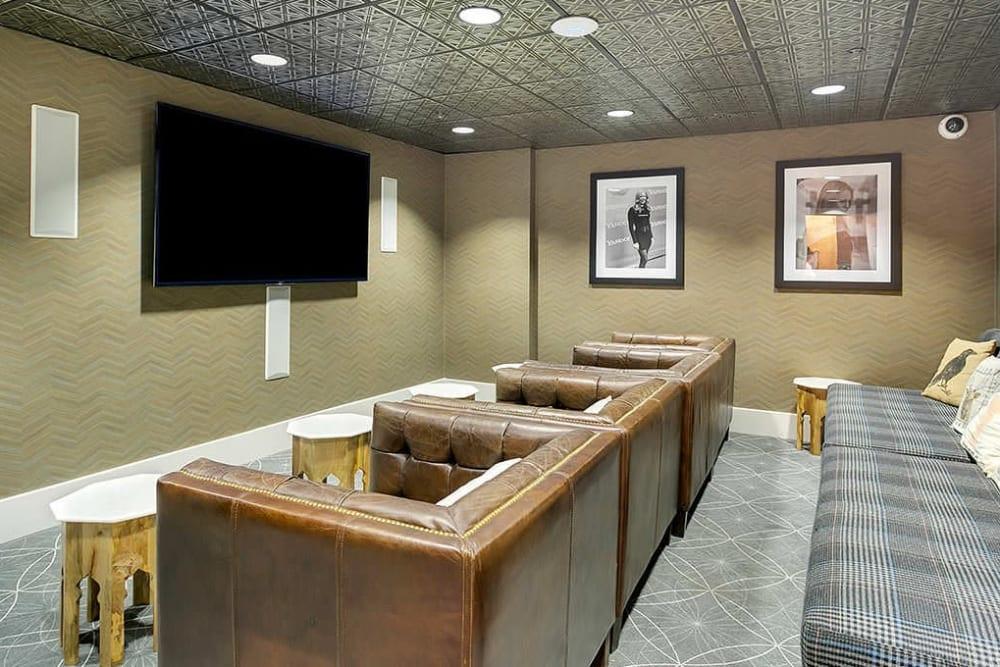 Movie room at Alesio Urban Center in Irving, Texas