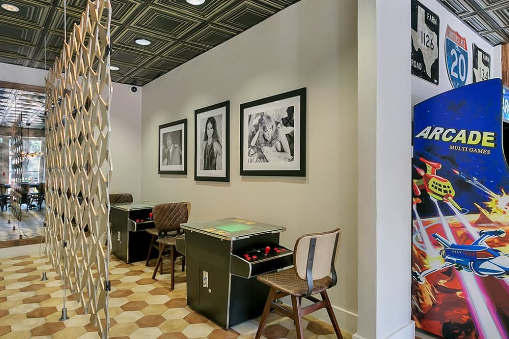 Game room at Alesio Urban Center in Irving, Texas