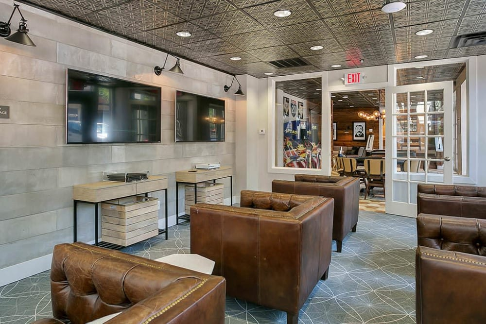 Lounge at Alesio Urban Center in Irving, Texas