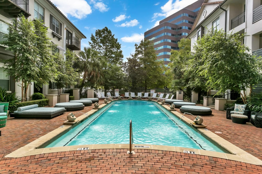 Swimming pool at Alesio Urban Center in Irving, Texas