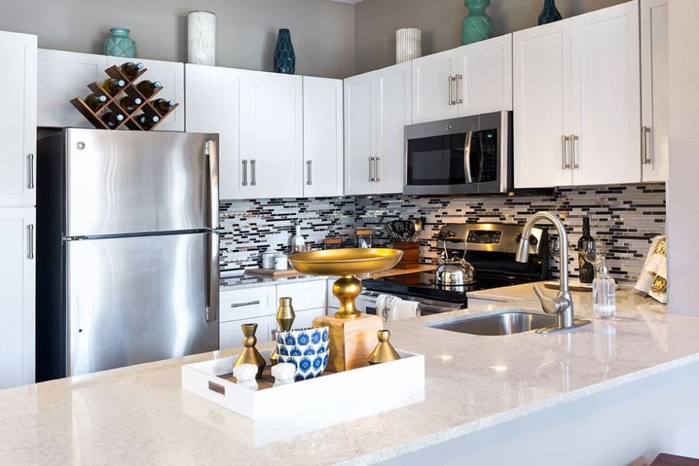Kitchen at Alesio Urban Center in Irving, Texas